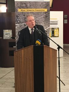 Charles Tannock MEP hosted a reception in the European Parliament in Strasbourg to open the Rinat Akhmetov Foundation Exhibition