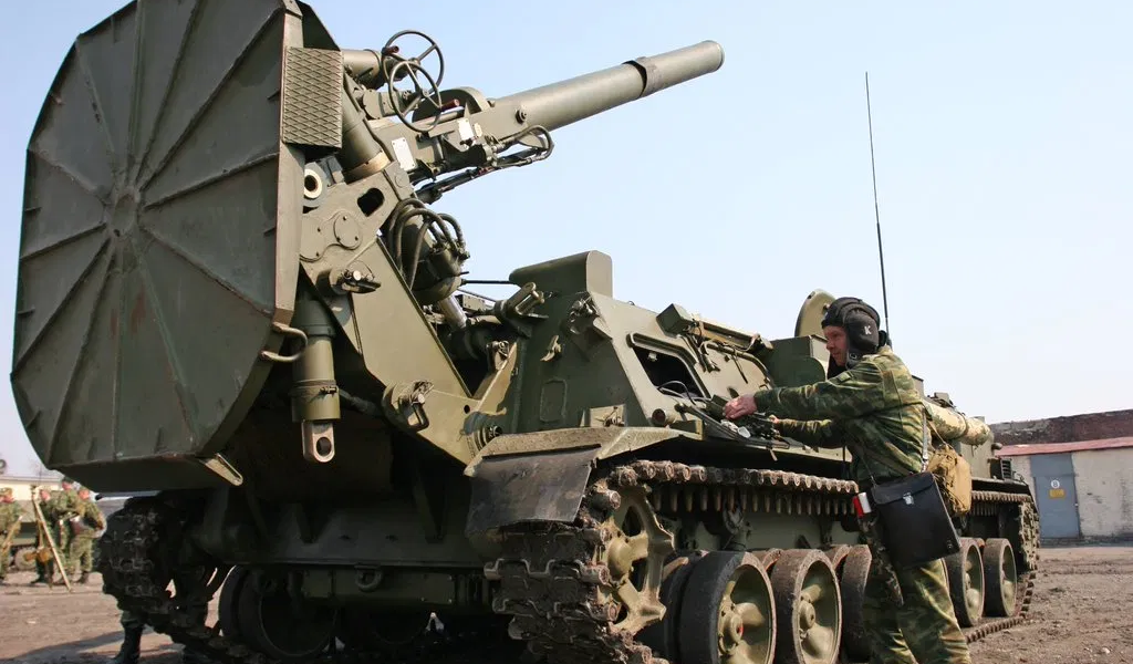 Russian Mortar with capability to fire tactical nuclear shells