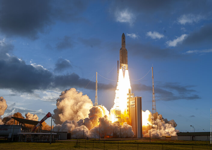 Ariane 5 Blasting off from Kourou