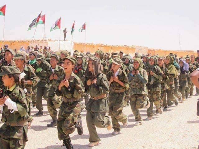 Polisario child soldiers recruited from the Sahrawis