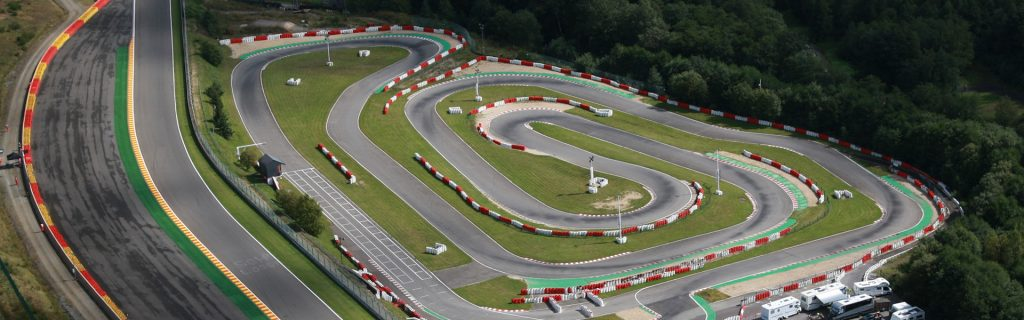 Karting at Francorchamps in Wallonia