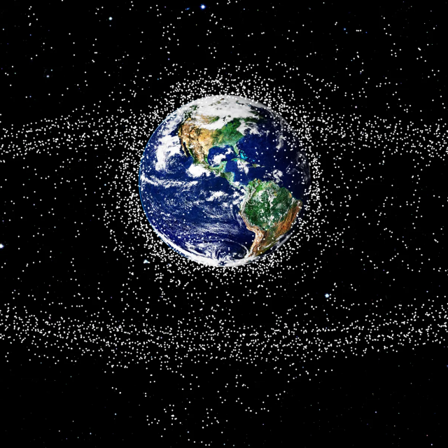 Space satellite traffic congestion