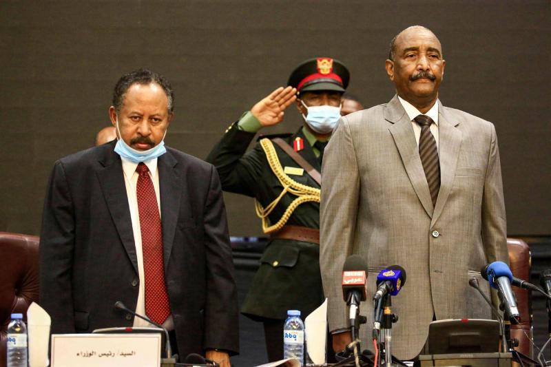 Abdel Fattah al-Burhan and Abdullah Hamdok